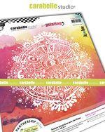 Art Printing Round : Sun Mandala by Azoline and Carabelle Studio (apro60031)