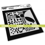 Back to Square Stencil Square 6 inch by Soraya Hamming for Carabelle Studio (TECA60008)