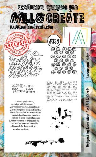 No. 338 Background Noise Aall and Create A6 Stamp