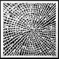 Basket designed by Daniella Woolf for Stencil Girl (6 inch by 6 inch)