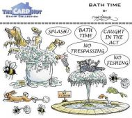 Bath Time a6 clear stamp set from Card Hut
