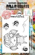 Be Beautiful (No. 416) A7 sized stamp by Janet Klein for Aall and Create (AAL00416)