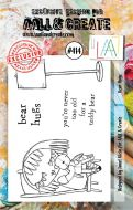 Bear Hugs (No. 414) A7 sized stamp by Janet Klein for Aall and Create (AAL00414)
