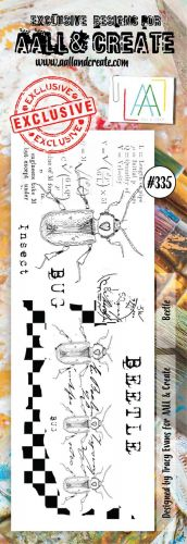 No. 335 Beetle Aall and Create Border Stamp