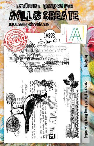 Bird Song No. 393 Aall and Create A5 sized stamp by Tracy Evans (AAL00393)