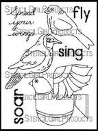 Boho Birds designed by Gwen Lafleur for Stencil Girl (9 inch by 12 inch)
