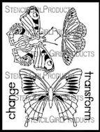 Boho Butterflies (L629) Stencil designed by Gwen Lafleur for StencilGirl (9
