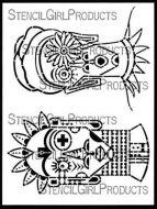 Boho Faces (L831) by Gwen Lafleur for StencilGirl
