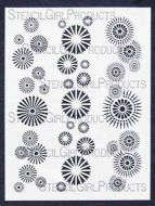 Border Circles Stencil designed by Michelle Ward for Stencil Girl (9 inch by 12 inch)