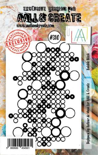 No. 310 Bubble Block Aall and Create A7 Stamp