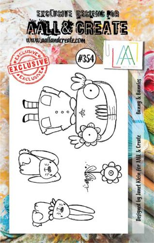 No. 354 Bunny and Bunnies Aall and Create A7 Stamp