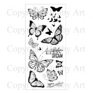 Butterflies Hobby Art Clear Stamp Set (CS077D)