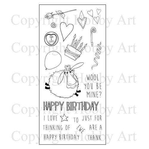 CS122D Hobby Art Stamps - Thinking of Ewe