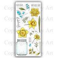 CS162D Daffs and Bells Hobby Art Stamps