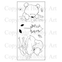 CS163D Grizzly Bear Hobby Art Stamps