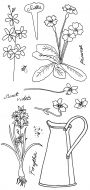 CS195D Floral Garden Hobby Art Clear Stamp Set