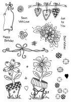 CS201D Floral Patchwork Hobby Art Stamps
