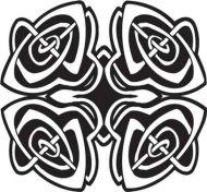 Crafty Stamps - Celtic 4 Rose Buds- CT152F