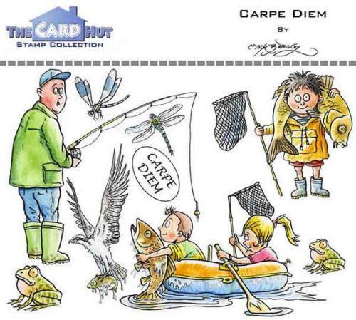Carpe Diem a6 clear stamp set from Card Hut