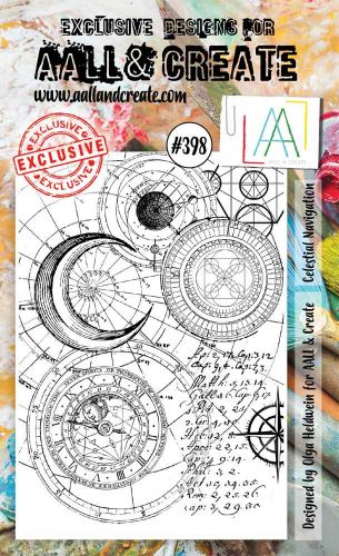 Celestial Navagation No. 398 Aall and Create A6 sized stamp by Olga Heldwein (AAL00398)