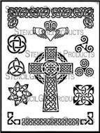 Celtic Celebration Stencil designed by June Pfaff Daley for Stencil Girl (9 inch by 12 inch)