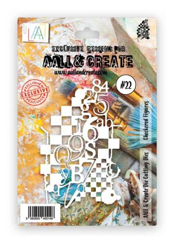 Checkered Figures Aall and Create Mixed Media Die 22 (AALD022)