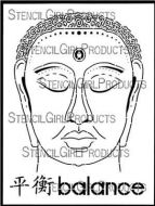 Chinese Garden - Buddha designed by Gwen Lafleur for Stencil Girl (9 inch by 12 inch)
