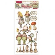 Chipboard 15x30 cm - Alice through the looking glass by Stamperia (DFLCB38)