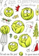 CS250D Hobby Art Stamps - Christmas Green-Things