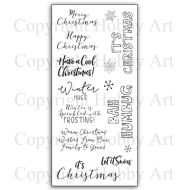 Christmas Frosting Hobby Art Clear Stamp Set CS144D