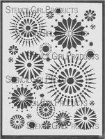 Circle 9 (L016) Stencil designed by Michelle Ward for StencilGirl (9