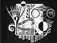 City Encompassed Stencil (L401) designed by Carol Wiebe for StencilGirl 9 inch by 12 inch