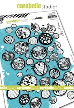 Cling Stamp A5 : Circles galore by Birgit Koopsen and Carabelle Studio (sa50039)