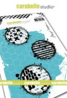 Cling Stamp A6 : Textured circles by Birgit Koopsen and Carabelle Studio (sa60507)