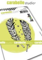 Cling Stamp A7 : Feathers d'Azo by Azoline and Carabelle Studio (sa70169)