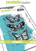 Cling Stamp A7 : Mixed Media Butterrflies by B. Koopsen and Carabelle Studio (sa70172)