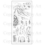 Coastal Walk Hobby Art Clear Stamp Set (CS113D)