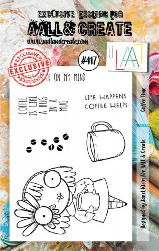 Coffee Time No. 417 Aall and Create A7 sized stamp by Janet Klein (AAL00417)