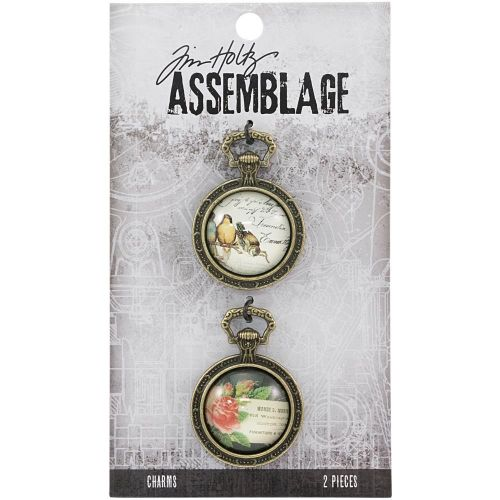 Collage Domes Tim Holtz Assemblage Charms 2/Pkg (THA20131)