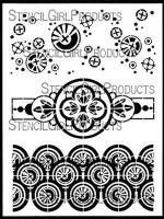 Collage Textures and Patterns, Circles (L631) designed by Gwen Lafleur for Stencil Girl (9 inch by 12 inch)