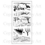 Country Walk Hobby Art Clear Stamp Set (CS112D)