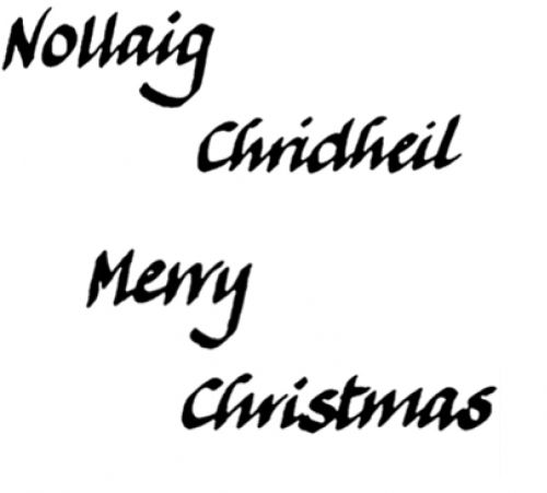 Crafty Stamps - Christmas Set - XM113S (Merry Christmas, Gaelic 1)