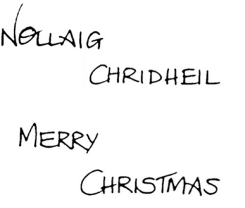 Crafty Stamps - Christmas Set - XM117S  (Merry Christmas, Gaelic 2)