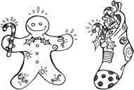 Christmas Set  - XM1S (Gingerbread man and Stocking Set)