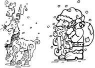 Crafty Stamps - Christmas Set  - XM4S (Reindeer and Santa Set)