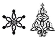 Crafty Stamps - Christmas Set - XM5S (Snowflake and Tree (Celtic))