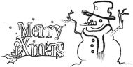 Crafty Stamps - Christmas Set - XM6S (Merry Xmas and Snowman)