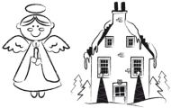 Crafty Stamps - Christmas Set - XM7S (Angel and House)