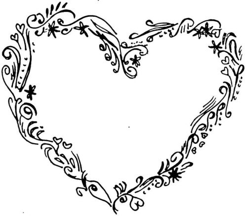 Crafty Stamps - Heart (floral - large) - RM101Q