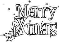 Crafty Stamps - Large Candle and Holly Merry Christmas - XM137HF